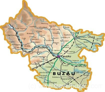 Map Buzau county